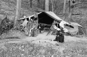 Gypsy camp near the Lidder Valley