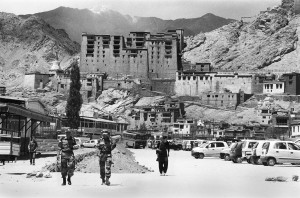 Leh fort with troops
