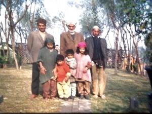 Dal Lake, houseboat family 1971 (taken by my aunt)